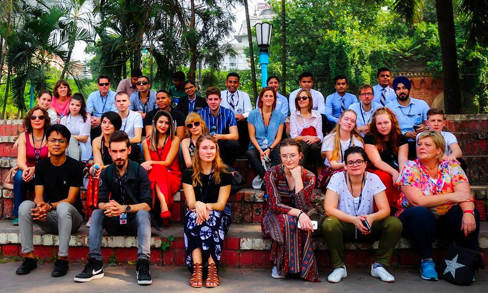 Rencontre d'étudiants et professeurs de Suède, Turquie et France à l'institut IIHM Calcutta