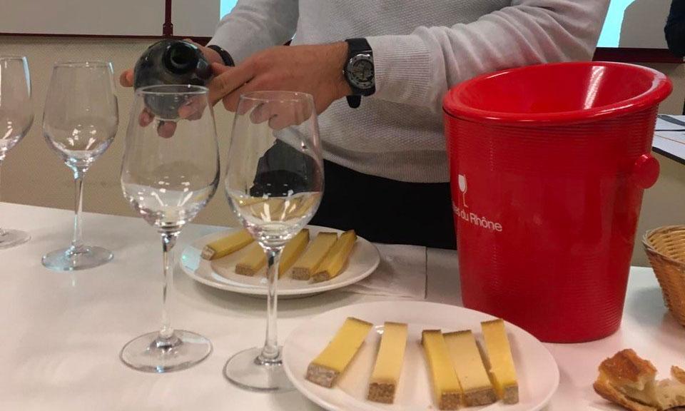 Les étudiants de Sommellerie et MAN Hôtellerie-Restauration découvrent le vin de Châteauneuf-du-Pape