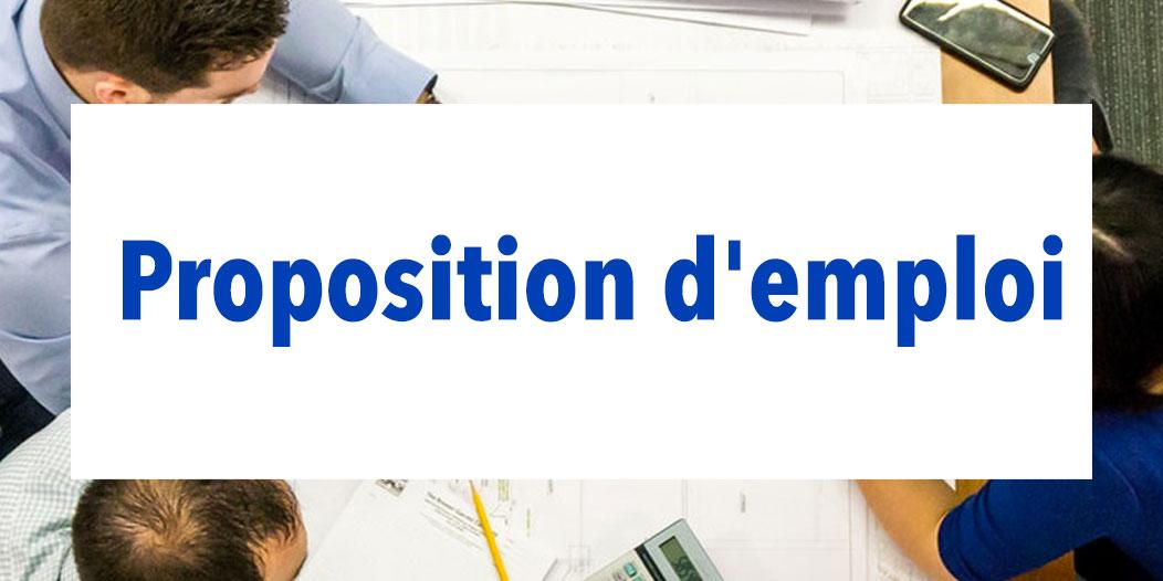 Proposition d'emploi